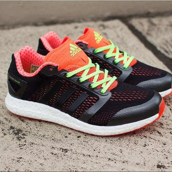 best service for whole family size 7 Adidas Climachill Rocket Boost Black/Neon Sneakers